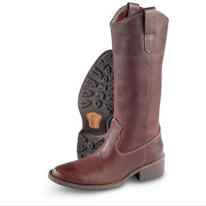 BORN Shavano Brown Pull On Western Boots - Size 8